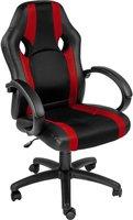 TecTake Racing Optik schwarz-rot
