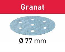 Festool Schleifscheiben Granat STF D77mm 6-Loch P120, 50Stk.