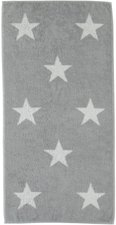 Cawö Big Stars Duschtuch silber (70x140cm)