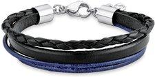 S.Oliver Armband für Jungen schwarz blau 20 cm (SOK196/1)