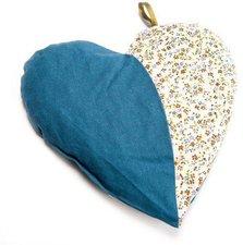 GRÜNSPECHT Naturprodukte Kirschkern-Kissen Herzenswärmeblau (LP 103-V2)