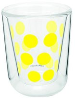 Zak Designs Dot Dot Doppelwand Glas 7,5 cl