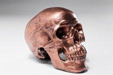 Kare Spardose Skull Copper Antique