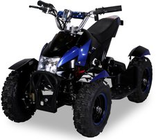 Actionbikes Mini Elektro Kinder ATV Cobra 800 Watt Schwarz/Blau