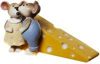 Udo Schmidt Spardose Käse mit Mäuse Paar