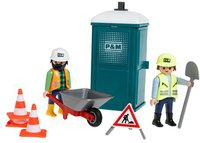 Playmobil 3275 Mobile Toilette / Bautrupp
