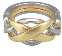 JeuJura Metallpuzzle Level 4 Ring