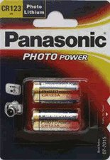 Panasonic CR-123A Photo Lithium 3,0V 2er