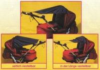 Sunnybaby Sonnensegel für Kinderwagen UPF 50+ bordeaux