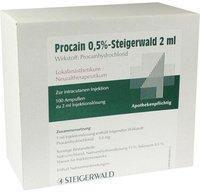 Steigerwald Procain 0,5% Steigerwald Inj.-Lsg. (100 x 2 ml)