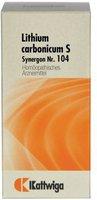 Kattwiga Synergon 104 Lithium Carb. S Tabletten (100 Stk.)
