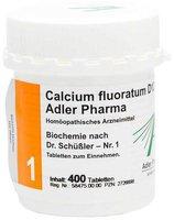 Adler Pharma Biochemie 1 Calcium Fluor. D 12 Tabletten (400 Stk.)
