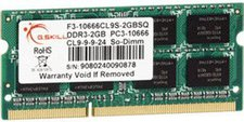 G.Skill 2GB SO-DIMM DDR3 PC3-10600 (F3-10666CL9S-2GBSQ) CL9