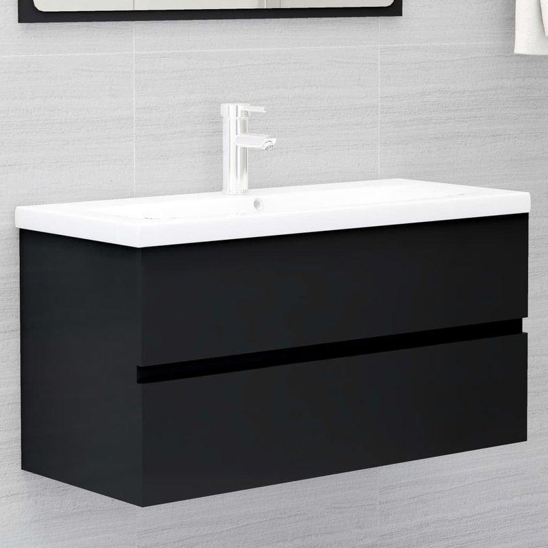 waschbeckenunterschrank schwarz preisvergleich ab 74 95. Black Bedroom Furniture Sets. Home Design Ideas