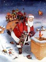 NordSüd Weihnachtsmann auf dem Dach