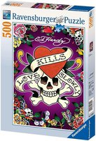 Ravensburger Puzzle 14629 Ed Hardy: Love kills slowly
