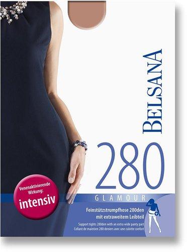 Belsana Glamour 280den Strumpfhose kurz für Schwangere L siena (PZN 6704280)
