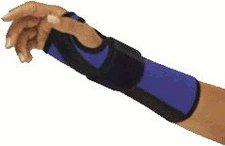 Bort Arm Handgelenk Schiene links blau/schwarz Gr. XS (PZN 4196046)