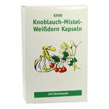 ALLPHARM Knoblauch Kapseln M. Mistel U. Weissdorn 200 Stück