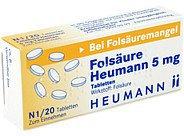 Heumann Folsaeure 5 mg Tabl. (20 Stück)