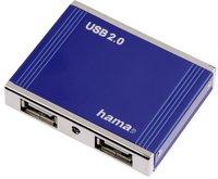 Hama USB 2.0 Hub 1:4 Aluminium mini