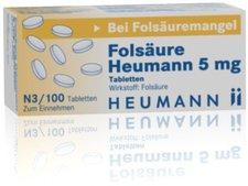 Heumann Folsäure Heumann 5 mg Tabletten (100 Stk.)