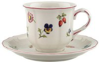 Villeroy & Boch Petite Fleur Kaffeetasse mit Untertasse 2 tlg.