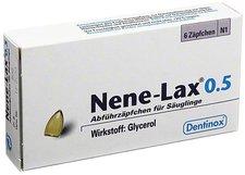 Dentinox Nene Lax 0,5 Suppositorien für Sauglinge (6 Stück)