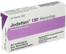 Sanofi-aventis Jodetten 150 Henning Tabl. (100 Stück)