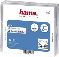 Hama 51288 CD-Leerhülle Slim Double