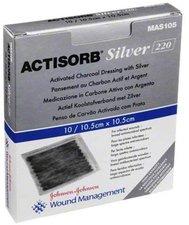 EMRA-MED Actisorb 220 Silver 10,5 x 10,5 cm Kompessen Steril (10 Stk.)