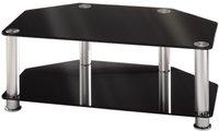 Hama LCD-/Plasma-TV-Rack, 1000 mm, eine Ablage, Alu/Schwarz (84040)