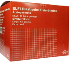 Draco Elfi Elastische Fixierbinde 12 cm x 4 m Gekreppt (20 Stk.)