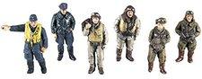 Hasegawa WWII Pilot Figure Set Japanese, German, US, British (36007 X48-7)