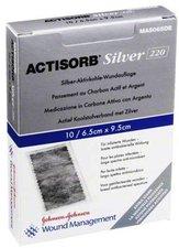 Johnson & Johnson Actisorb 220 Silver 9,5 x 6,5 cm Steril Kompressen (10 Stk.)