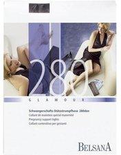BELSANA Glamour 280den Strumpfhose kurz für Schwangere M schwarz