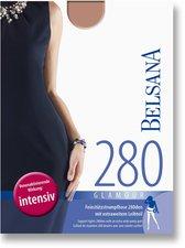 BELSANA Glamour 280den Strumpfhose lang für Schwangere M nougat