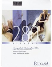 BELSANA Glamour 280den Strumpfhose lang für Schwangere M schwarz