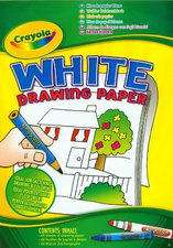 Crayola White Drawing Paper Din A4 - 60 Seiten