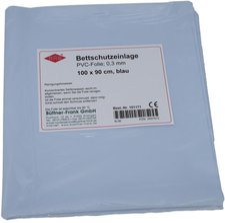 Büttner-Frank Betteinlage 100X90Cm Hellblau Kst.-Folie (1 Stk.)