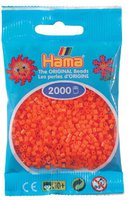 malte haaning Plastic Mini-Perlen 2000 Stück orange (501-04)