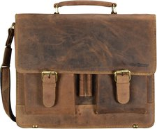 Greenburry 1722 Vintage Leder-Aktentasche 15,4