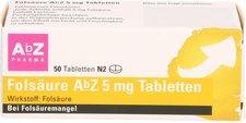 AbZ Folsäure 5 mg Tabletten (50 Stk.)