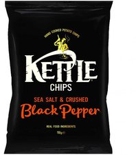Kettle Foods Chips Sea Salt with Crushed Black ...