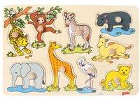 goki Steckpuzzle Afrikanische Tierkinder