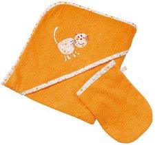 Easy Baby Set Kapuzenbadetuch mit Waschhandschuh