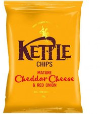 Kettle Foods Chips Mature Cheddar & Red Onion (...