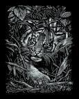 Mammut Scraper Kratzbild ohne Rahmen Silber - Tigerjunges