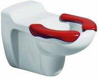 Keramag Kind/Baby Tiefspül-WC Kind mit 2-teil. Sitzfl. Rot, wandhängend (201710)