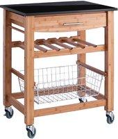Zeller Küchenrollwagen, Bamboo/Granit-Top (13779)